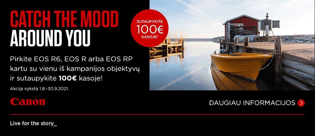 Canon akcija. Sutaupykite 100 Eur!