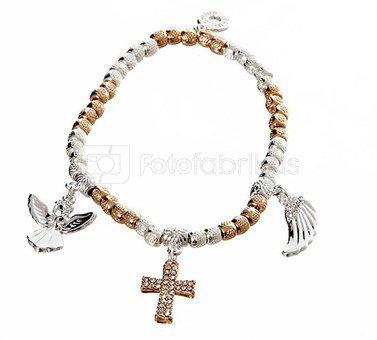Apyrankė Guardian Angel for a friend 274938 sidabro ir aukso spalvų