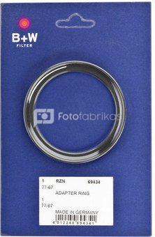 B+W Adapter Ring 77/67