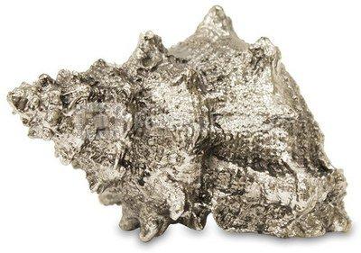 Dekoratyvinis gaminys Kriauklė 9x16x11 cm 109648 sidabro spalvos polirezin. ddm