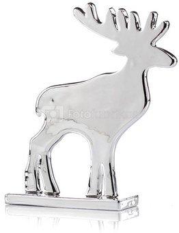 Figūrėlė elnias stovintis 19x15x3.5 cm 25068 sidabro spalvos kld