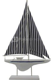 Laivas dryžuotomis burėmis H:52 W:33 D:6 cm 67022