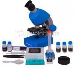 Mikroskopas Bresser Junior 40-640x - mėlynas