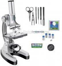 Mikroskopas Bresser Junior Set 300x-1200 su lagaminu