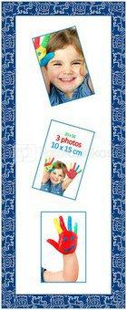 Rėmelis 1200535 GALLERY KIDS 20x56 (3foto 10*15) mėlynas