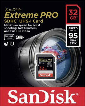 SanDisk Extreme Pro SDHC 32GB 95MB/s SDSDXPA-032G-X46