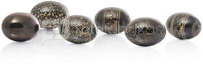 Suvenyras kiaušinis ornamentuotas keramikinis H 6 cm(6) 79855