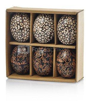 Suvenyras kiaušinis ornamentuotas keramikinis H 6 cm 79856