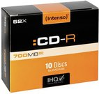 1x10 Intenso CD-R 80 / 700MB 52x Speed, Slimcase