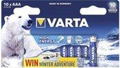 1x10 Varta High Energy Micro AAA LR 03 Ice Bear Limited Edition