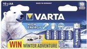 1x10 Varta High Energy Mignon AA LR 6 Ice Bear Limited Edition