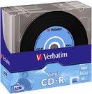 1x10 Verbatim CD-R 80 / 700MB 52x Speed, Vinyl Surface, Slim