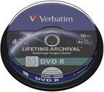 1x10 Verbatim M-Disc DVD R 4,7GB 4x Speed, Cakebox printable
