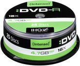 1x25 Intenso DVD-R 4,7GB 16x Speed, Cakebox