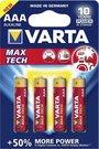 1x4 Varta Max Tech Micro AAA LR 03