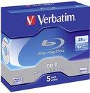 1x5 Verbatim BD-R Blu-Ray 25GB 6x Speed Jewel Case