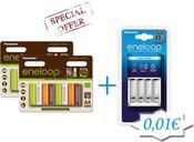 2vnt x Akum. Panasonic ENELOOP BK-3MCCE/8RE + Kroviklis ENELOOP BQ-CC51E už 1ct
