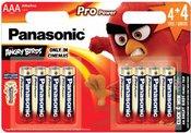 4+4 Panasonic Pro Power LR03 Micro AAA ANGRY BIRDS