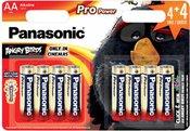 4+4 Panasonic Pro Power LR6 Mignon AA ANGRY BIRDS