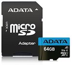 ADATA microSDXC UHS-I Class 10 64GB Premier with Adapter A1