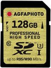 AgfaPhoto SDXC Card UHS I 128GB Professional High Speed U3 95/90