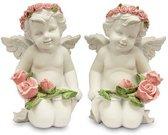 Angelas su rožėmis 11x8x8 cm 104136
