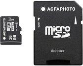 AgfaPhoto Mobile High Speed 16GB MicroSDHC Class 10 + Adapteris