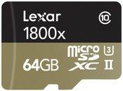 Lexar microSDXC 1800x 64GB UHS-II USB 3.0 Reader + Adapter