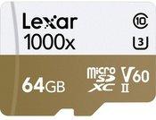 LEXAR PRO 1000X MICROSDXC UHS-II A2 (V60) R150/W90 64GB
