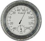 Barometras-termometras apvalus H:22 W:22 D:5 cm W7590 nk