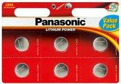 Baterija Panasonic LR44 EL 6BP (6vnt)