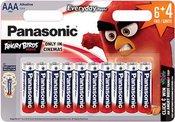 Baterijos Panasonic LR03 EPS 6+4BP Angry Birds