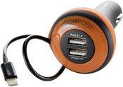 Boompods Carpod Car Charger 4 Amp Lightning orange