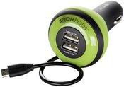 Boompods Carpod Car Charger 4 Amp Micro-USB grün