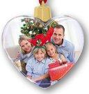 Kalėdinis žaisliukas ant eglutės širdutė 8,5x7 cm SF108P