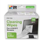 ColorWay CW-1334 Wet/Dry Wipes Set for Screen and Monitor Cleaning 16 pcs ml