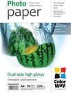 ColorWay High Glossy dual-side Photo Paper, A4, 220 g/m2, 50 sheets