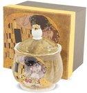 Cukrinė dėžutėje su Klimt paveikslo Bučinys motyvu 11x9x9 cm 126051