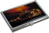 Dėklas vizitinėms kortelėms HW17 Automobilis 9,3x5,8x0,7 cm metalinis
