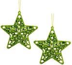Dekoracijos kalėdinės Žvaigždutės 2 vnt, 10 cm 871125201796 kld