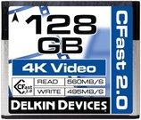 DELKIN 128GB CINEMA CFAST 2.0 - 560MB/S READ, 495M