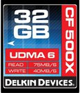 DELKIN 32GB CF 500X - UP TO 75MB/S TRANSFER SPEED