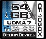 DELKIN 64GB CF 1050X - 160MB/S READ, 120MB/S WRITE