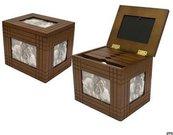 Dėžutė-albumas nuotraukoms medinis 20.2x16.1x17.5 cm 66810