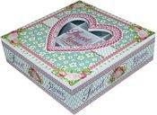 Dėžutė arbatai medinė su širdele 7x24x24 cm 97119