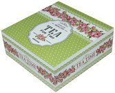 Dėžutė arbatai žalia medinė 7x18x18 cm 97114