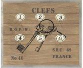 Dėžutė-kabykla raktams medinė 65374, 28x24 cm.
