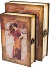 Dėžutė/knyga medinė set 2 28x21.7x7.3 24x16.5x6 212H314P3B SAVEX