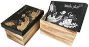Dėžutė medinė su piešiniu ant dangčio 50261 28x18x16 cm