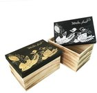 Dėžutė medinė su piešiniu ant dangčio 50263 34x24x18 cm